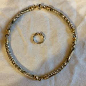 Jewelry - Inauthentic David Yurman Cable Necklace and Ring